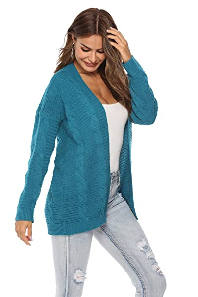 Amazon.com: SheSublime - Chaqueta de punto para mujer: Clothing