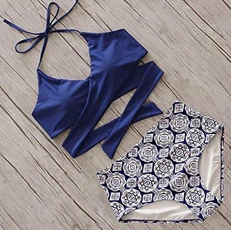 WXNLEAI AliExpress explosión cruz flor pantalones colgando correa de cuello traje de baño de aguas termales