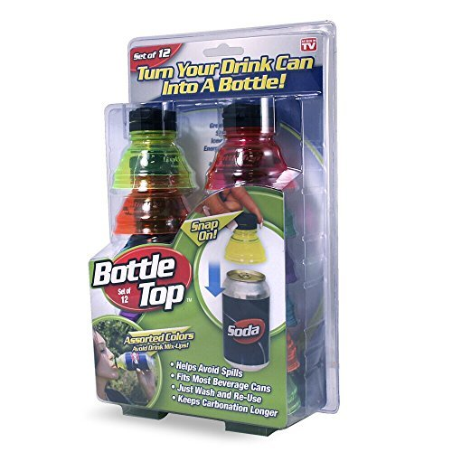 As Seen On TV - BOTTLE TOPS Package of 12 tops (Bottle Tops For Cans compare prices)