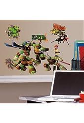 Roommates Rmk2246Scs  Teenage Mutant Ninja Turtles Peel And Stick Wall Decals