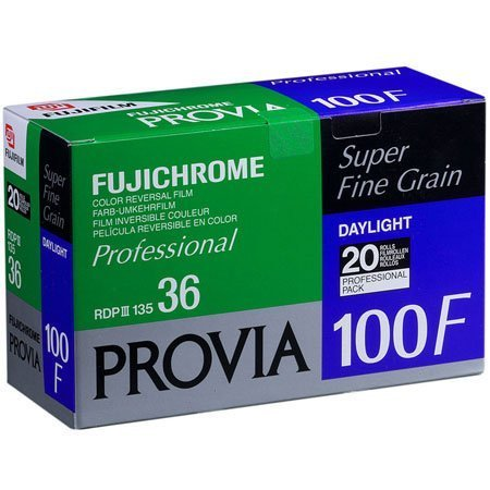 Fujifilm Fujichrome Provia RDP III 100F Color Slide Film ISO 100, 35mm Size, 36 Exposure, RDP-36, 20 Pack, Transparency U.S.A. by Fujifilm