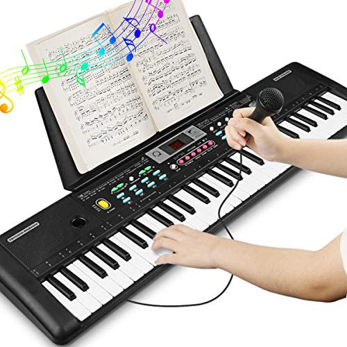 Sale!! Electronic Keyboard Piano 61 Key, Portable Piano Keyboard with Music Stand, Microphone, Power...