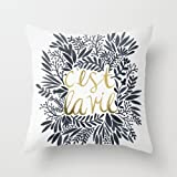 euro style pillowcase 18 x 18 inches / 45 by 45 cm gift or decor for teens girls,chair,adults,sofa,divan,christmas - 2 sides