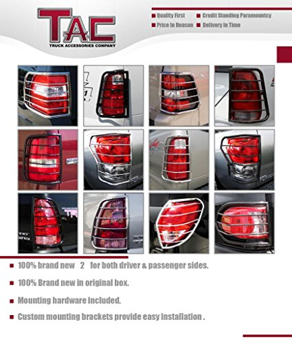 TAC Rear Tail Light Guards Cover Protector Fit 2009-2019 Dodge Ram 1500/2500 / 3500 (Excl. 09 2500) TLG BLACK Taillight - 1 Pair