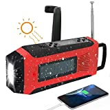 Solar Emergency Radio, SAPE AM/FM//NOAA Digital Weather Radio with 3W LED Flashlight, SOS Alarm & 2000MAh Rechargeable Battery for Cell Phone Charging