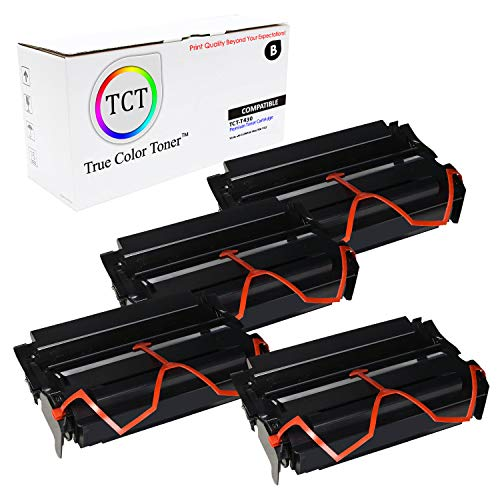 (TCT Premium Compatible Toner Cartridge Replacement for Lexmark 12A8325 Black High Yield Works with Lexmark T430, IBM 1422 Printers (12,000 Pages) - 4 Pack )