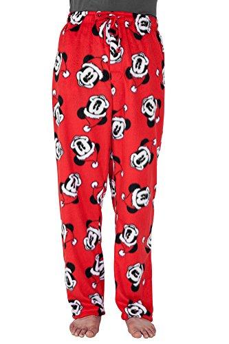 Christmas Disney Mickey Mouse Fleece Sleep Lounge Pants - X-Large (Mickey Mouse Lounge Pants For Men)