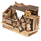 MagiDeal Novelty Wooden Chinese Style Windmill Music Box Toy Home Desk Decoration Ornament