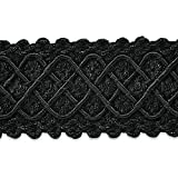Expo International Jolie Lattice Braid Trim Embellishment, 20-Yard, Black