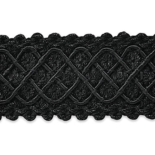 Expo International Jolie Lattice Braid Trim Embellishment, 20-Yard, Black IR6986BK-20