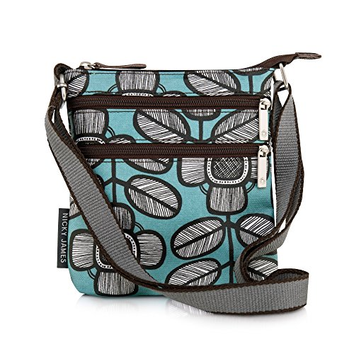 Nicky James Tribal Leaf Print Mini Crossbody Bag