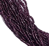 Amethyst Silver Lined Czech 8/0 Glass Seed Beads 1 Full 12 Strand Hank Preciosa Jablonex