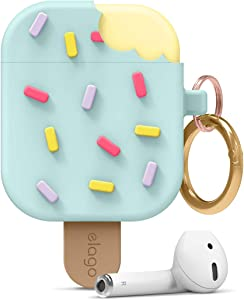 elago Ice Cream AirPods Case with Keychain Designed for Apple AirPods 1 & 2 [US Patent Registered] (Mint)
