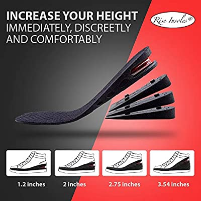 Height Increase Insole, Orthotic Heel Shoe Lift kit with Air Cushion Elevator Shoe Insole Lifts Kits Inserts for Men & Women Taller Insoles Variable Height Adjustable
