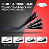 """Height Increase Insoles, 4-Layer Orthotic Heel Shoe Lift kit with Air Cushion Elevator Shoe Insole Lifts Kits Inserts for Men & Women Taller Insoles 1.2"""" to 3.5"""" Variable Height Adjustable"""