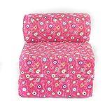 American Furniture Alliance Children's Studio Chair Sleeper Jr. Twin 24', Pink Flower