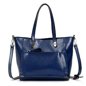 SIFINI Women Top Handle Satchel Handbags Style Soft Leather Work Tote Purse Shoulder bag