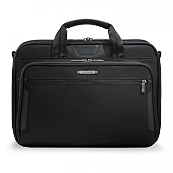 217e1fea17a8 Amazon.com | Briggs & Riley @ Work Luggage Slim Brief, Black, One Size |  Briefcases