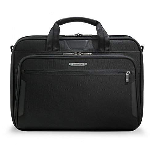 & Luggage Briggs Tag Riley (Briggs & Riley @ Work Luggage Slim Brief, Black, One Size)