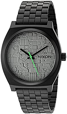 Nixon Men's 'Time Teller SW, Death Star' Quartz Stainless Steel Casual Watch, Color:Black (Model: A045SW-2383-00)