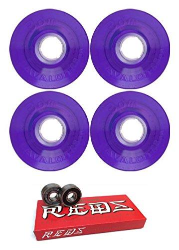 導入する醜い測定68 mm 3dmホイールAvalon Longboard Wheels With Bones Bearings – 8 mmスケートボードベアリングBones Super Redsスケート定格 – 2アイテムのバンドル