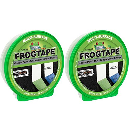 Duck FrogTape Multi-Surface Painting Tape, Green, 0.94 in. x 60 yd. - 2 Tape by Patented