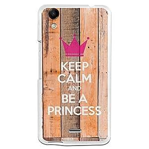 Funda Gel Wiko Rainbow Up BeCool Keep Calm and Be a Princess