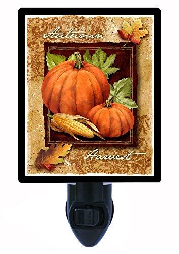 Night Light, Autumn Harvest, Pumpkins, Corn, Fall