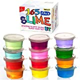 165 Pack DIY Slime Kit, Slime Making Kit Includes 12 Crystal Slime, Glitter Jars, Charms, Sugar Paper, Foam Beads, Fishbowl Beads, Toy Cups, Slices, Mica Powders and Tools for Kids Girls by WINLIP