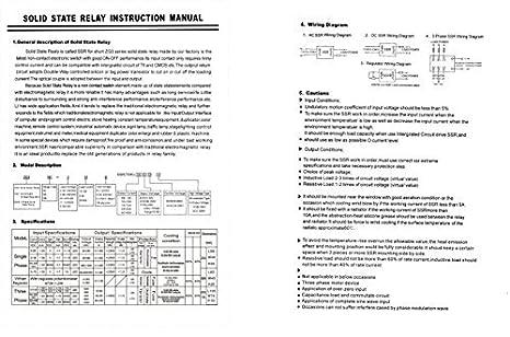 Saim Solid State Relays for Temperature Controller SSR-10DA 10A 3-32V DC 24-380V AC