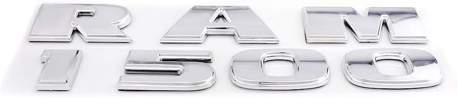 Matte Black RAM 1500 Plus 4X4 Emblems Rear Side Door Decal Replacement For Ram 1500 2013-2018