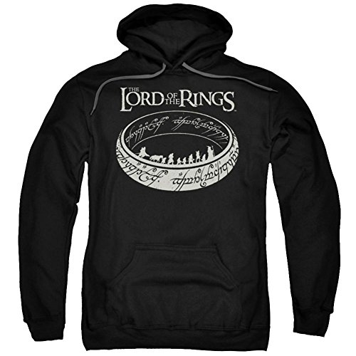 Hoodie: Lord Of The Rings- Ring Journey Pullover Hoodie Size L