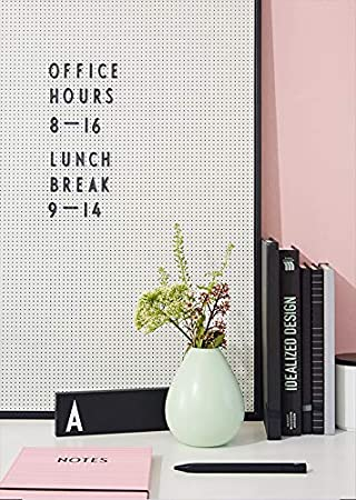 Design Letters Grey A2 Large Size Peg Board Personalised Memo Message Board for Home and Office