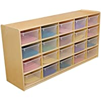 Wood Designs WD18541 (20) 5 Letter Tray Storage Unit w/Translucent Trays