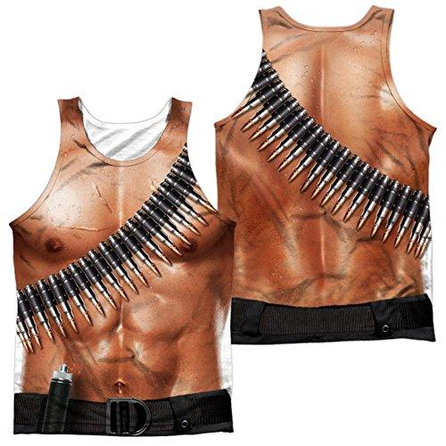 [Tank Top: Rambo Iii- Rambo Costume (Front/Back) Size M] (Rambo First Blood Costume)