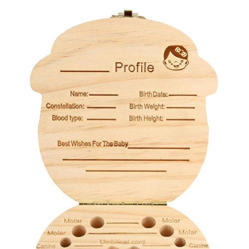 Regalos para Recién Nacidos,VENMO Caja de Dientes para Bebés (Niños) Caqui Niñas