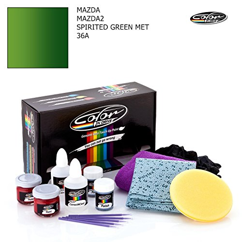 - MAZDA MAZDA2 / SPIRITED GREEN MET - 36A / COLOR N DRIVE TOUCH UP PAINT SYSTEM FOR PAINT CHIPS AND SCRATCHES / PLUS PACK