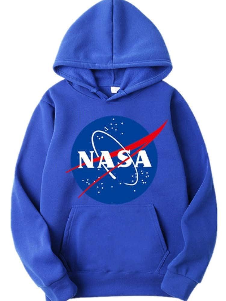 ZBSPORT Unisex NASA Basic Kapuzenpullover Sweatjacke Pullover Hoodie Sweatshirt XS-2XL
