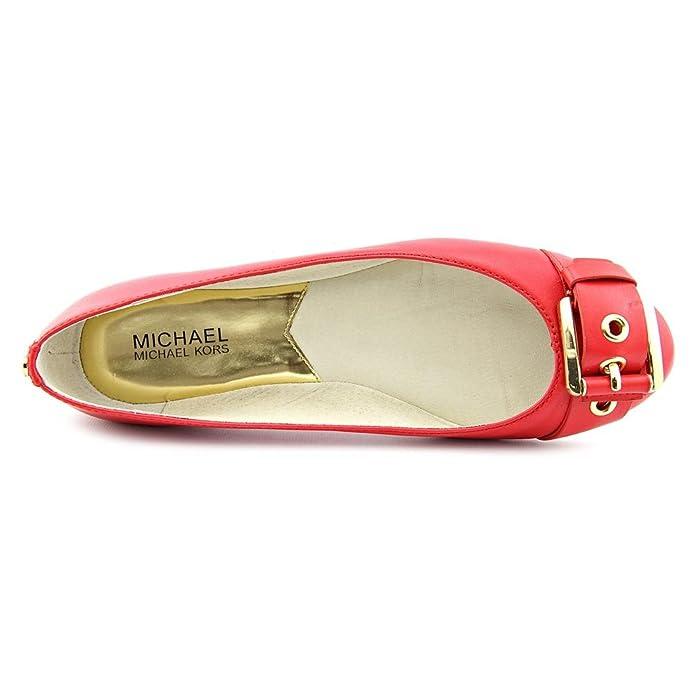 321afbafea Amazon.com | Michael Kors MK Womens Calder Ballet Rhubarb Leather Flat Shoe  Size 6 | Flats
