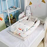 MisDress Baby Bassinet for Bed - Portable Baby Lounger - Breathable & Hypoallergenic Co-Sleeping Baby Bed - 100% Cotton Portable Crib for Newborns 0-24 Months