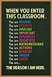 When You Enter This Classroom Sign Educational Rules Cool Wall Teacher Supplies for Classroom School Decor Teaching Toddler Kids Elementary Learning Decorations Cool Wall Decor Art Print Poster 24x36: more info