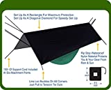 Hammock Bliss Extra Large Rain Fly - Waterproof Tent Tarp, Rain Fly and Hammock Shelter To Cover Your Hammock & Your Gear – Massive Coverage To Make Hammock Camping A Dry Rain Free Experience