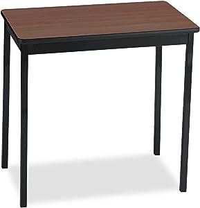Barricks UT183030WA Utility Table, Rectangular, 30w x 18d x 30h, Walnut/Black