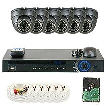 GW Security GW8CH6C1082CVM 8 Channel HD-CVI DVR 2.8-12mm Zoom 2MP 1080P Sony Dome Security Camera System
