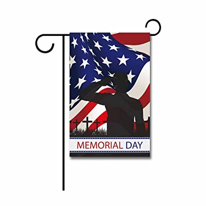 1cc7ca7188e Image Unavailable. Image not available for. Color  Hamory Memorial Day American  Flag Garden Flag Thank You Patriotic Banner ...