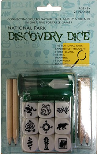 National Park Discovery Dice Game, Nature Themed Card, Dice And Camp Board Games, Camp Games Kids And Adults Love