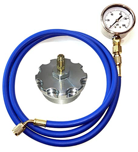 TamerX Fuel Pressure Test Kit With Billet Aluminum Fuel Filter Cap for Ford Power Stroke 6.0L