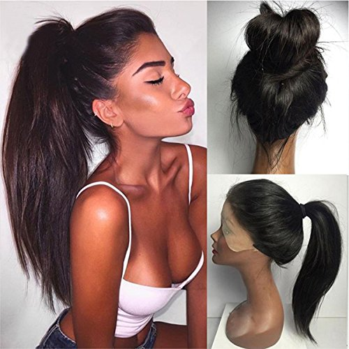 Vanessa Queen Long Straight Hair Wig High Ponytail Synthetic Lace Front Wig For Black Women 20Inch (Wigs For Black Women)