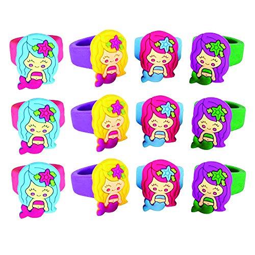 Kicko Mermaid Rubber Rings - Pack of 12 1