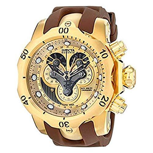 Invicta Men's 14464 Venom Analog Display Swiss Quartz Brown Watch